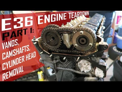 FAST BMW E36 Engine Teardown [Pt1]: How to Remove VANOS and Cylinder Head  (m50 m52 s50 applications)