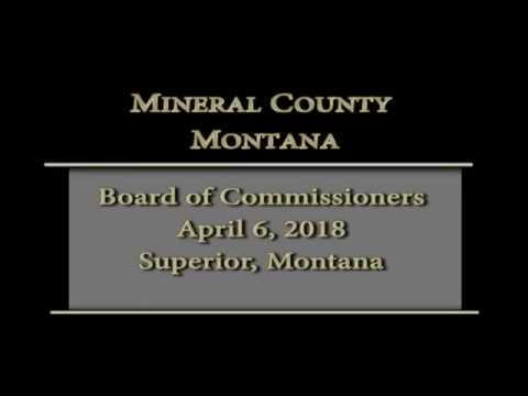 Mineral County Montana Commissioners' meeting 4-5-18