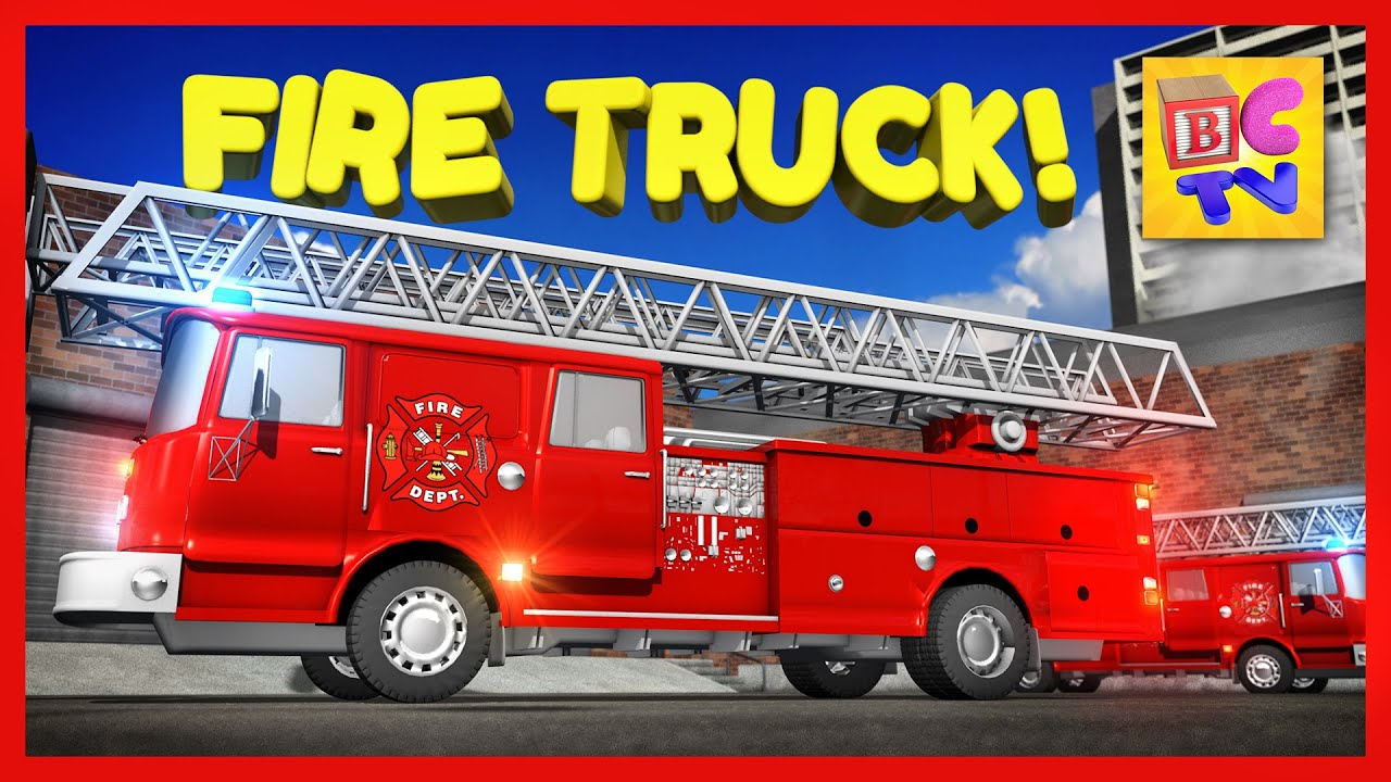 medium resolution of learn about fire trucks for children educational video for kids by brain candy tv