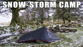 Solo Camp on Dartmoor with SnowStorm