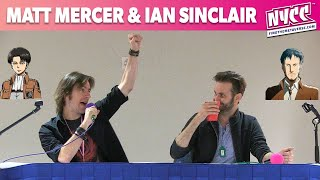 The Attack On Titan Q&A with Ian Sinclair and Matthew Mercer at Animate Miami November 2014