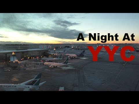 A Night at YYC Calgary International Airport - A Time Lapse ᴴᴰ