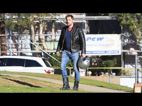 Ben Affleck Flashes His Hip Tattoo On The Motorcycle