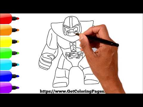 How to Draw LEGO Thanos Fortnite