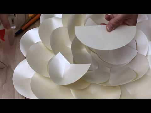 Camellia Giant Paper Flower / DIY Tutorial
