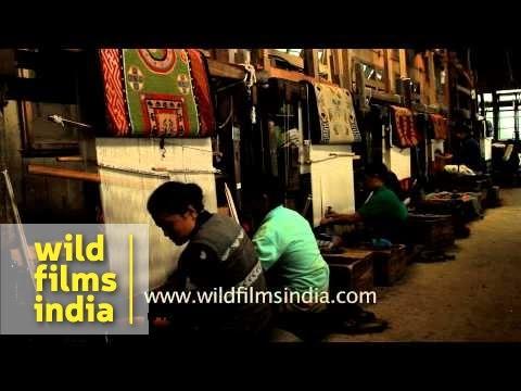 Carpet weaving section: Tibetan Refugee Camp