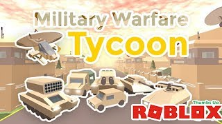 🔫⚔️ MILITARY BASE ESTABLISHED / Roblox Military Warfare Tycoon / Os Game Line