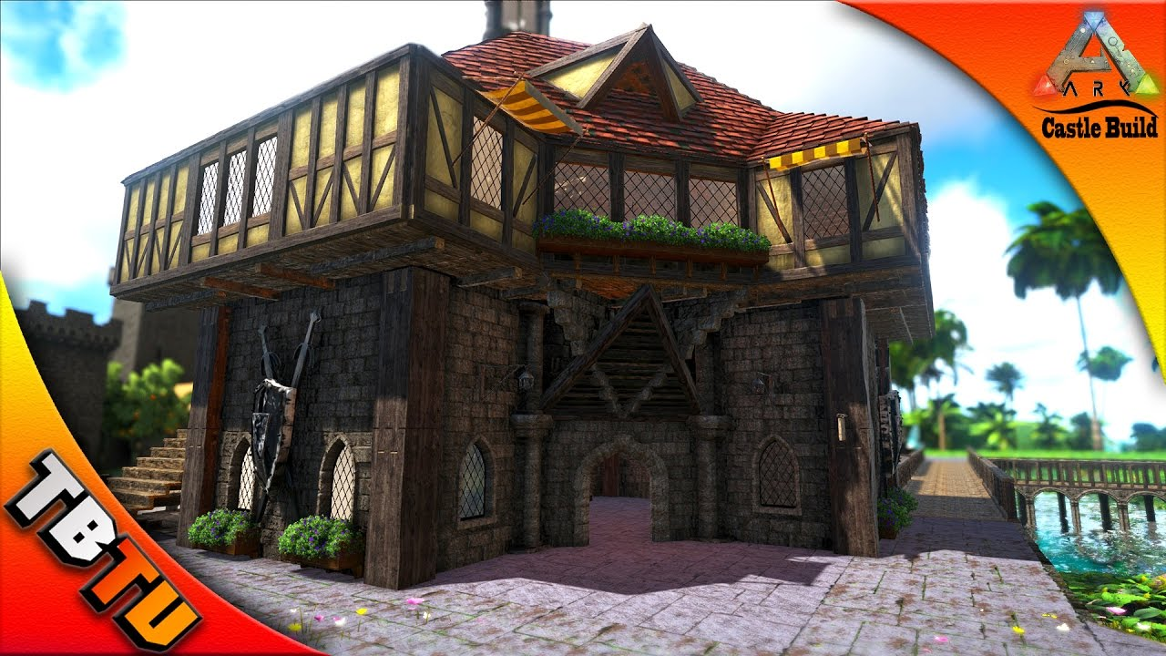 Ark castle build blacksmith shop ark survival evolved for Build a castle house