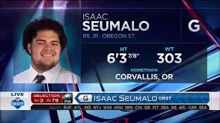 2016 NFL Draft Rd 3 Pk 79 | Philadelphia Eagles Select G Isaac Seumalo