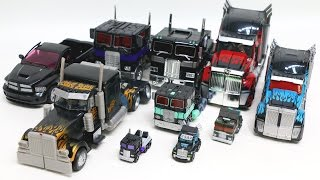 Transformers Black Color Nemesis Prime 10 Truck Vehicles Transformation Robot Car Toys