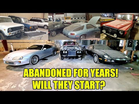 I Found A Warehouse FULL Of FORGOTTEN CLASSIC CARS With The Keys In Them! I Brought Gas & A Jumper!