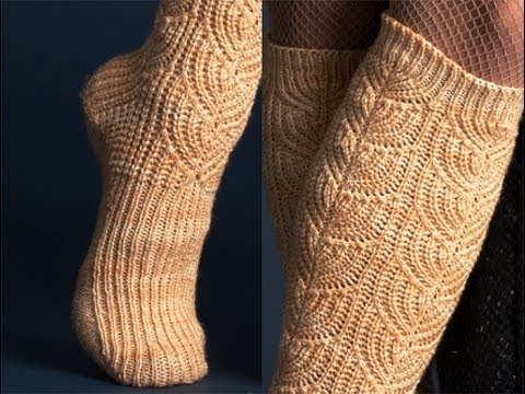1 Brioche Socks Vogue Knitting Early Fall 2011 Youtube