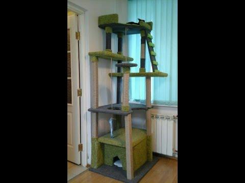 Игровой комплекс для кошек pet products (8069). Размеры: 60x40x240-255 см. Игровой комплекс для кошек на 4 уровня с домиком (35х30 см. ) и регулируемым упором в потолок. Полки и домик отделаны плюшевой тканью, а столбики для когтей обкручены сизалевой бечевкой. (распродажа).