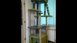 видео Когтеточка для кошек, домик для кошки своими руками