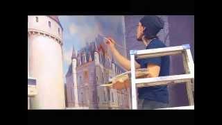 Художественная роспись стен - дизайн интерьера магазина бутика в Москве Тюмени Казани(Студия