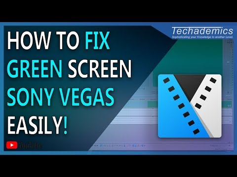 How To Fix Sony Vegas Green Screen Preview