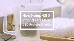 How Hemp-CBD Products are Made: CBD Protein Powder
