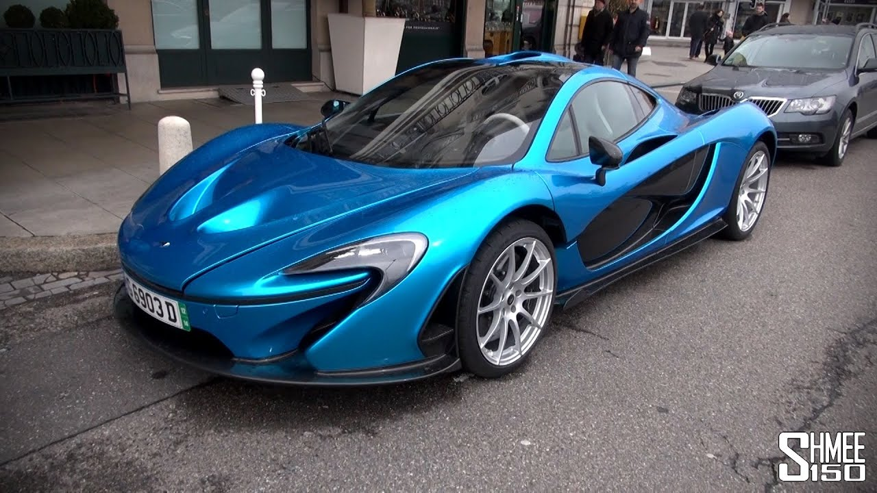 bright blue mclaren p1 in geneva - youtube
