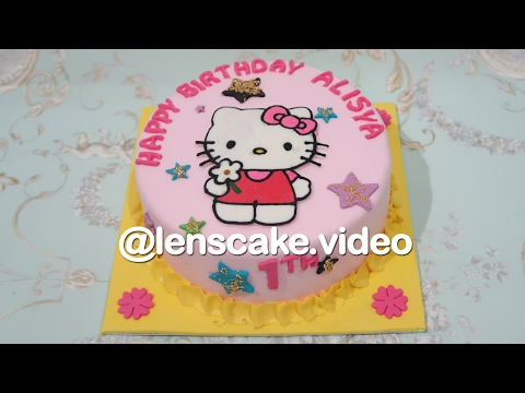 Beautiful ! How to Make Birthday Cake Hello Kitty