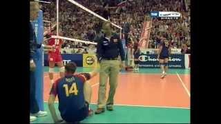 FINAL CAMPEONATO EUROPA 2007 VOLEIBOL RUSIA 2 - 3 ESPAÑA (Parte 3)
