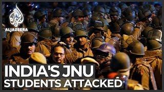 New Delhi: Students, teachers attacked inside JNU campus