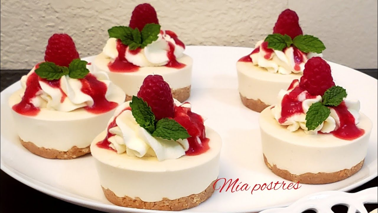 Mini Cheesecakes Sin Horno Mesa De Postres Youtube