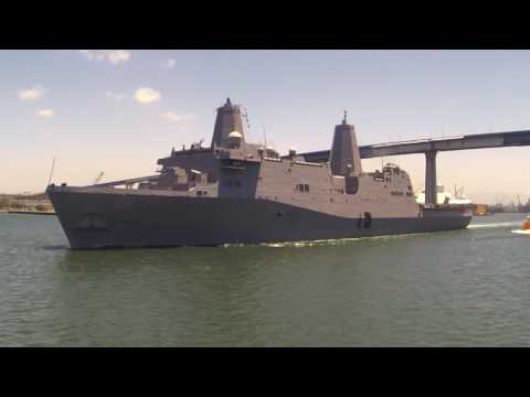 USS John P Murtha (LPD26), Outbound, San Diego Bay