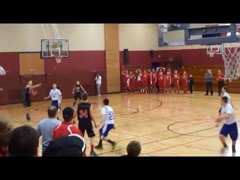 Kid13 scores full court shot TWICE on camera INSANE