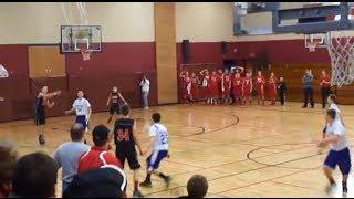Kid(13) scores full court shot TWICE on camera! [INSANE]