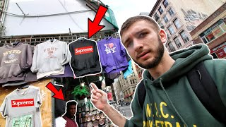BUYING FAKE SUPREME, YEEZYS AND BAPE IN NYC CHINATOWN! THEY TRIED to RIP US OFF