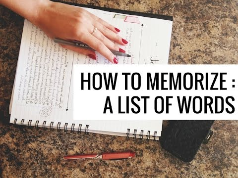 How to Memorize a List of Words