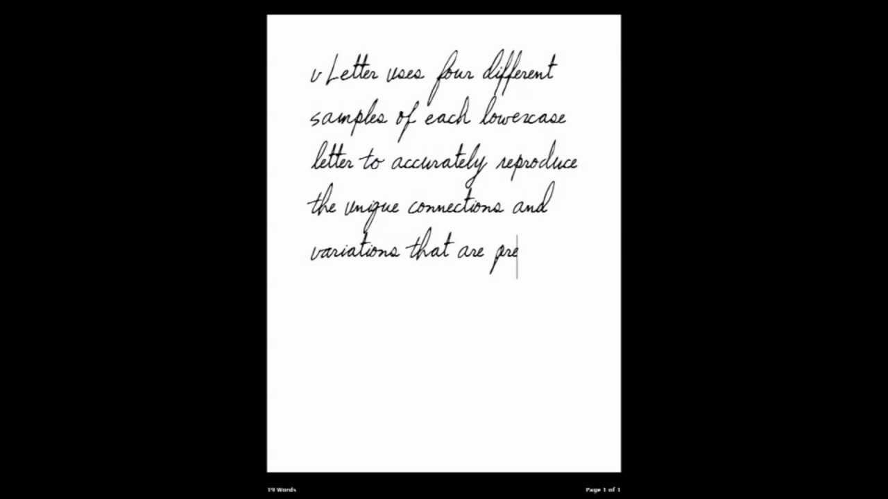 Real Cursive Handwriting Fonts! — vLetter, Inc