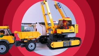 Video For Kids - Excavator And  Truck On Construction Site