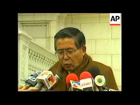 "PERU: FUJIMORI SAYS ""NO PARDON FOR JAILED AMERICAN WOMAN"""