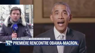 Ce que l'on sait sur la rencontre entre Macron et Obama à l'Elysée, BFMTV