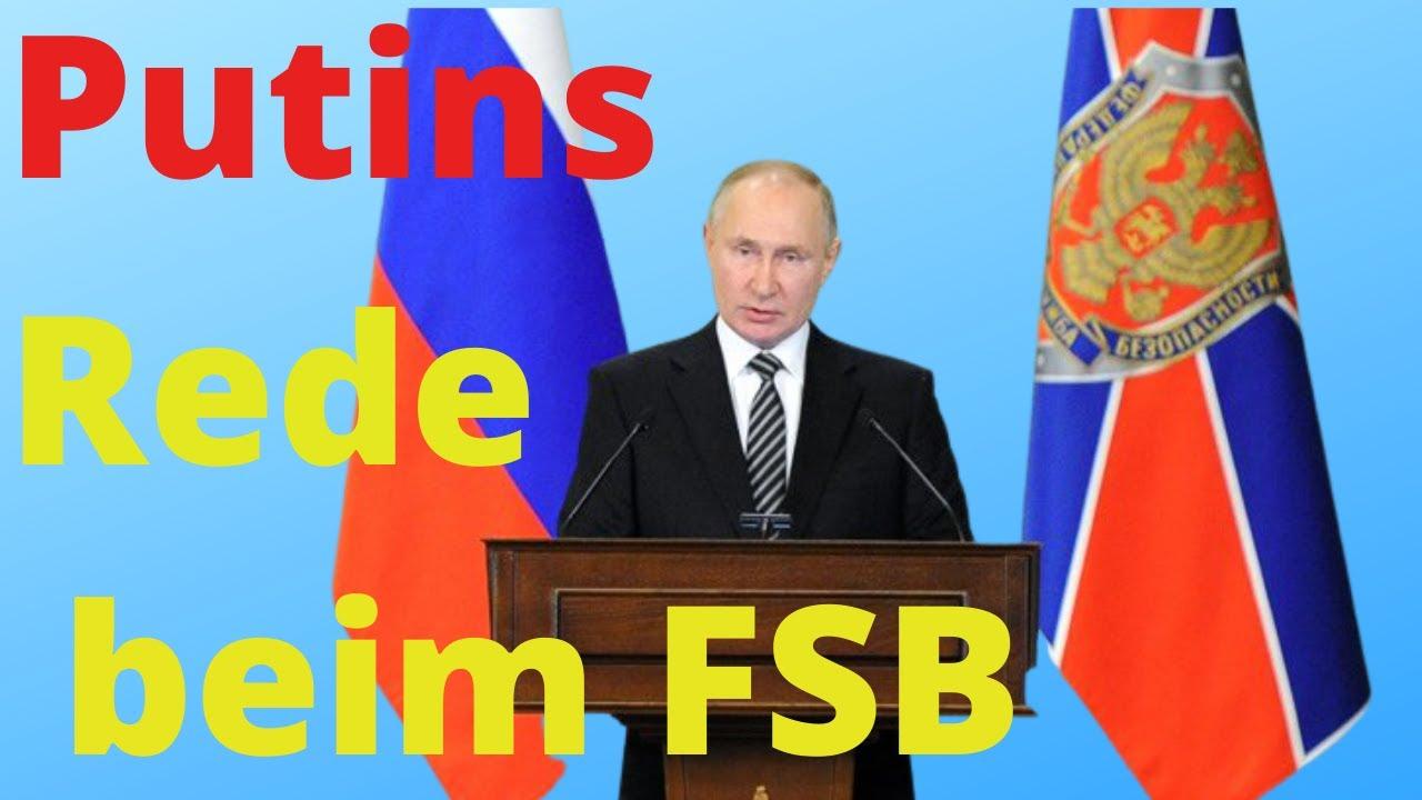 Putin spricht Klartext über die Kampagne des Westens gegen Russland vor dem FSB (KGB)