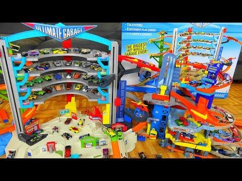 Hot Wheels Ultimate Garage VS Matchbox Garage And Speedtropolis Play Set Shark Attack Ramp