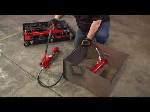 Strongway Hydraulic Portable Ram Kit - 4 Ton Capacity, 17-Pcs.