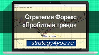 Стратегия форекс «Пробитый тренд»