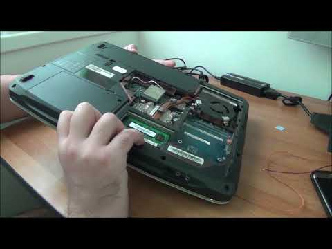 Working on an Acer Aspire 5520 laptop (motherboard and CPU replacement)
