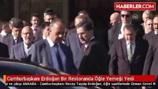 Cumhurbaşkanı Erdoğan Hacı Abdullah Lokantası'nda öğle yemeği yedi