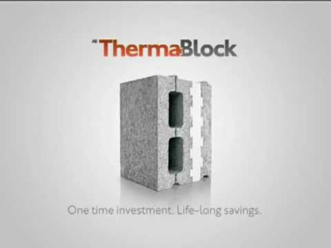 Ab thermablock revolutionary concrete insulation block for Insulated cement blocks