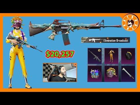 تفتيح وتطوير سلاح الحافة الساطعة  بقيمة 20,257$ الف شدة 😱 PUBG MOBILE