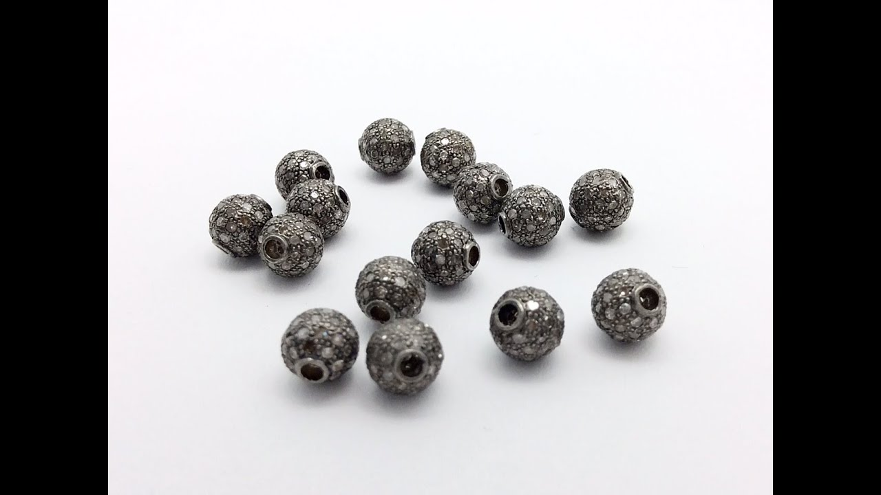 round sterling silver seamless hole beads pack product of