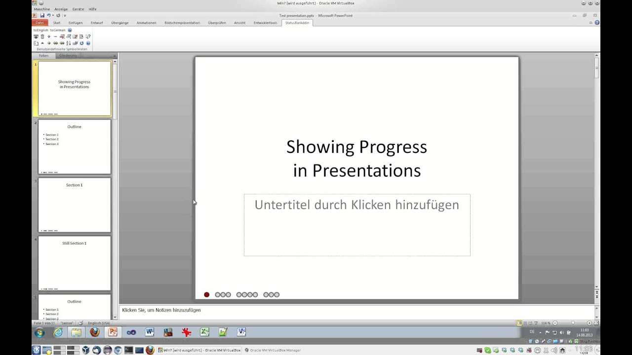powerpoint progress bar addin (tutorial) - youtube, Presentation templates
