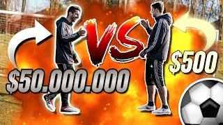 $50.000.000 Vs. $500 - Football Player ⚽ Challenge