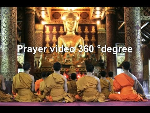 Prayer video 360 ° degree laos prayer times  Buddhist monks in Vang Vieng