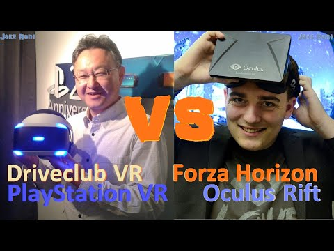 Driveclub Playstation VR vs Forza Horizon Oculus Rift - Phil Spencer - Palmer Luckey - Yoshida