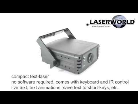 Laserworld EL-200G KeyTEX - Text Laser With Keyboard - Product Video | Laserworld