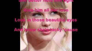 Taylor Swift Teardrops On My Guitar Karaoke + Lyrics
